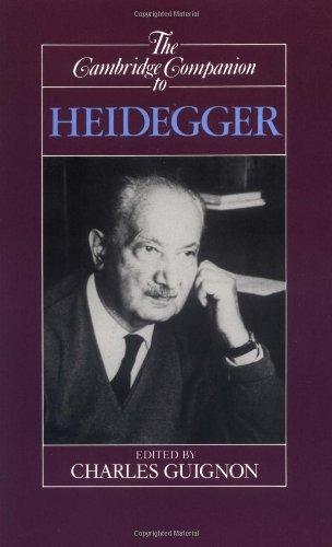 The Cambridge Companion to Heidegger 9780521385978