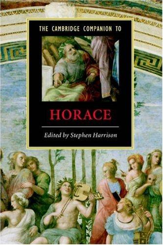 The Cambridge Companion to Horace (Cambridge Companions to Literature)