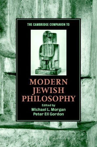 The Cambridge Companion to Modern Jewish Philosophy 9780521012553