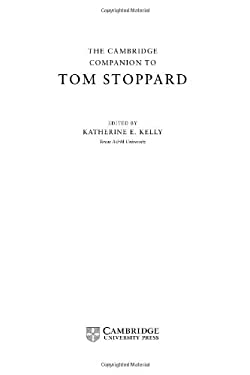 The Cambridge Companion to Tom Stoppard 9780521641784