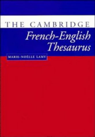The Cambridge French-English Thesaurus 9780521425810