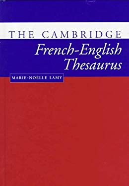 The Cambridge French-English Thesaurus 9780521563482