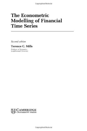 The Econometric Modelling of Financial Time Series 9780521624138