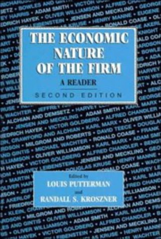 The Economic Nature of the Firm: A Reader 9780521556286