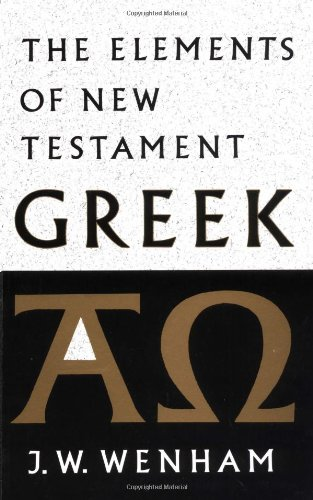 The Elements of New Testament Greek 9780521098427