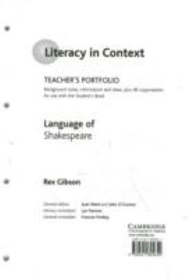 Language of Shakespeare Teacher's Portfolio 9780521805650