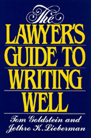 The Lawyer's Guide to Writing Well 9780520073210