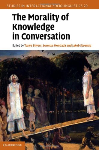 The Morality of Knowledge in Conversation 9780521194549