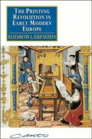 The Printing Revolution in Early Modern Europe 9780521447706
