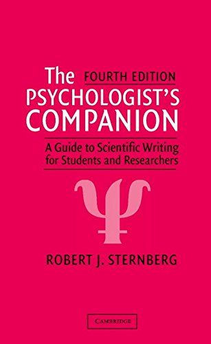 The Psychologist's Companion: A Guide to Scientific Writing for Students and Researchers 9780521528061