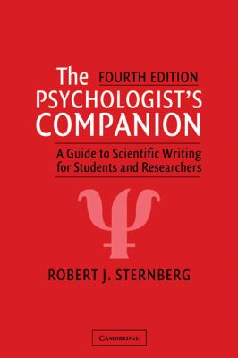 The Psychologist's Companion: A Guide to Scientific Writing for Students and Researchers 9780521821230