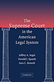 The Supreme Court in the American Legal System 9780521780384