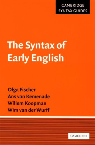 The Syntax of Early English 9780521556262