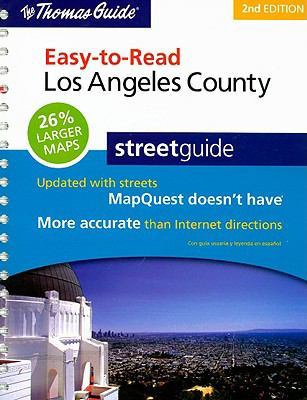 The Thomas Guide Easy-To-Read Los Angeles County Streetguide 9780528873263