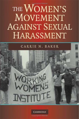 The Women's Movement Against Sexual Harassment 9780521879354