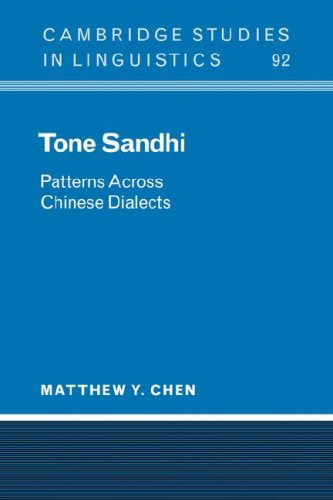 Tone Sandhi: Patterns Across Chinese Dialects 9780521033404