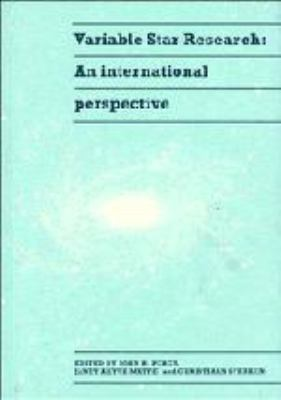 Variable Star Research: An International Perspective 9780521404693