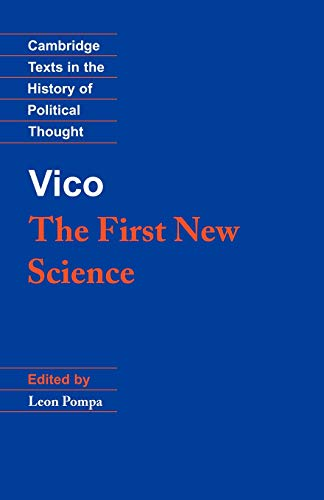 Vico: The First New Science 9780521387262