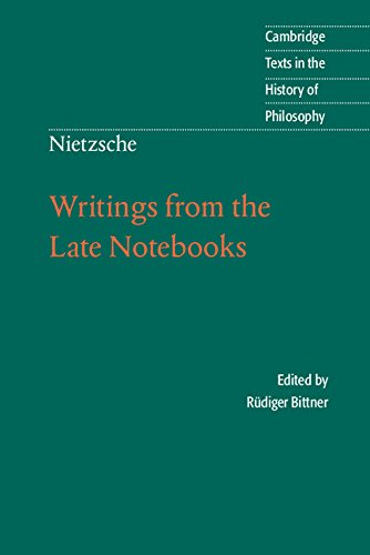 Writings from the Late Notebooks 9780521008877