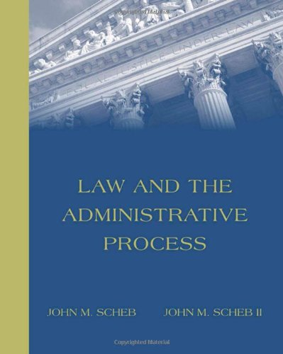 Law and the Administrative Process (with Infotrac) [With Infotrac] 9780534177089