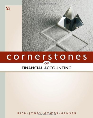 Cornerstones of Financial Accounting 9780538473453