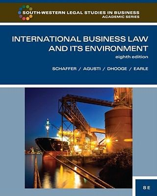 International Business Law and Its Environment 9780538473613
