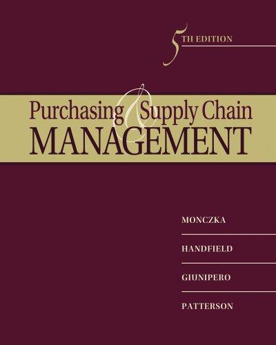 Purchasing and Supply Chain Management 9780538476423