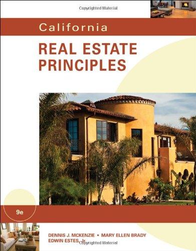 California Real Estate Principles 9780538739658