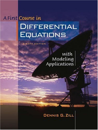 A First Course in Differential Equations with Modeling Applications [With CDROM] 9780534418786