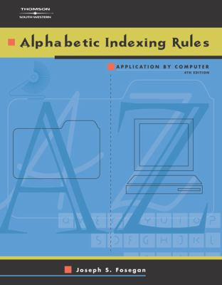 Alphabetic Indexing Rules: Application by Computer [With CDROM] 9780538434720