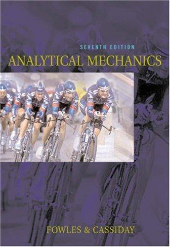Analytical Mechanics 9780534494926