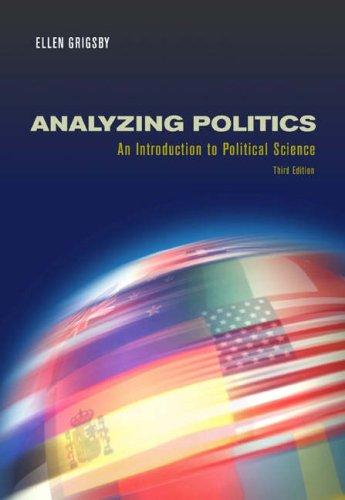 Analyzing Politics [With Infotrac] 9780534630775