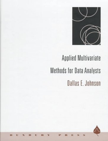 Applied Multivariate Methods for Data Analysts 9780534237967