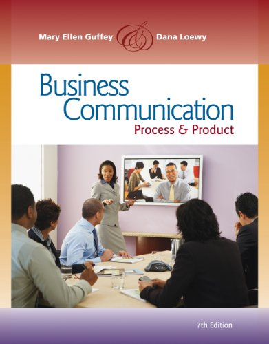Business Communication: Process and Product (with Meguffey.com Printed Access Card) 9780538466257