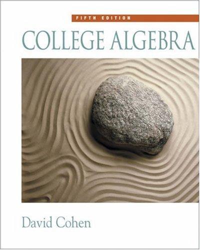 College Algebra [With CDROM] 9780534357719