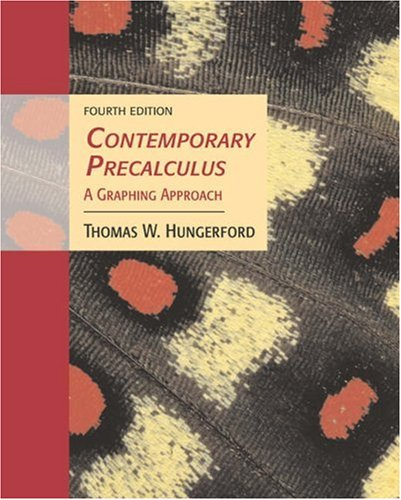 Contemporary Precalculus: A Graphing Approach [With Bca Tutorial and Infotrac] 9780534403386