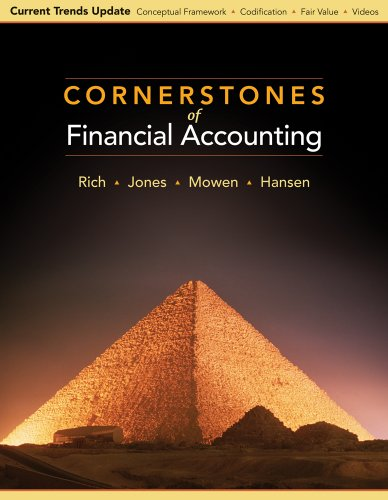 Cornerstones of Financial Accounting: Current Trends Update 9780538751285
