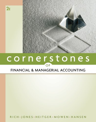 Cornerstones of Financial & Managerial Accounting 9780538473484