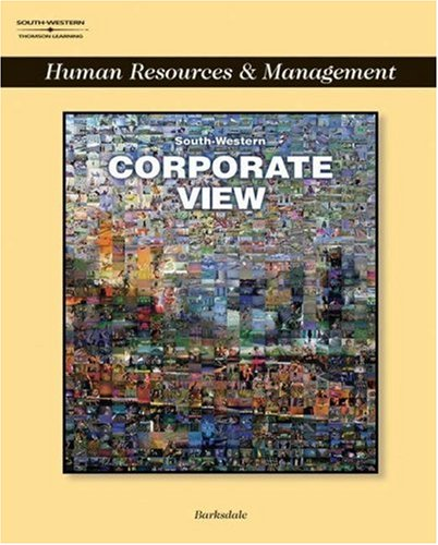 Corporate View: Management and Human Resources [With CDROM] 9780538699792