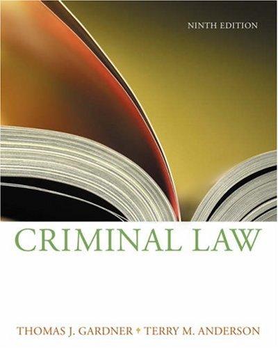 Criminal Law 9780534624569