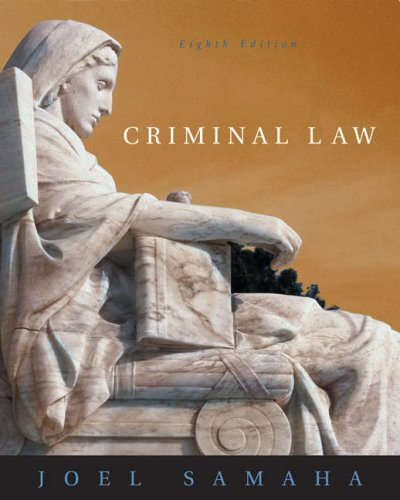 Criminal Law [With CDROM and Infotrac] 9780534629915