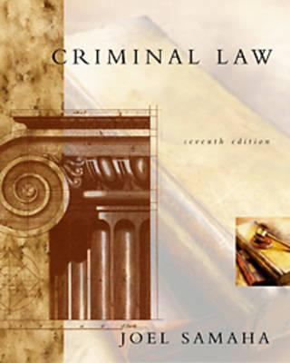 Criminal Law [With CDROM and Infotrac] 9780534563585