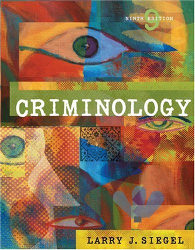 Criminology [With CDROM and Infotrac] 9780534645779