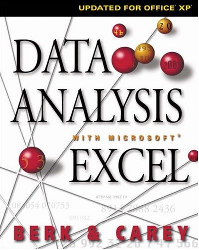 Data Analysis with Microsoft Excel: Updated for Office XP [With CDROM] 9780534407148