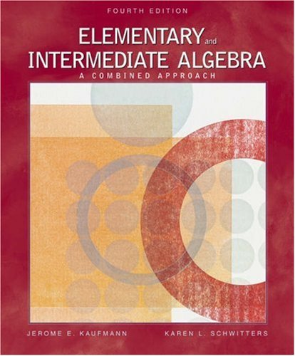Elementary and Intermediate Algebra: A Combined Approach [With CDROM and Infotrac] 9780534490249