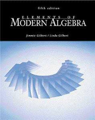 Elements of Modern Algebra 9780534373511
