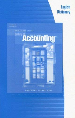 English Dictionary: Century 21 Accounting 9780538973083