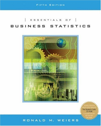 Essentials of Business Statistics [With CDROM] 9780534464851