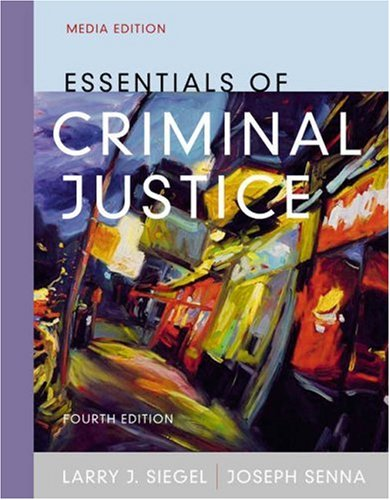 Essentials of Criminal Justice [With Infotrac] 9780534616410