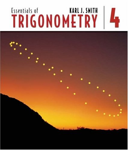 Essentials of Trigonometry (with CD-ROM and Ilrn Tutorial) [With CDROM] 9780534494230